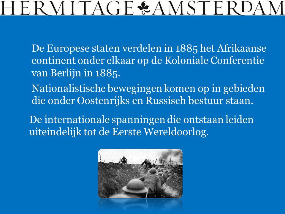 De Europese staten verdelen in 1885 het Afrikaanse continent onder elkaar op de Koloniale Conferentie van Berlijn in 1885.