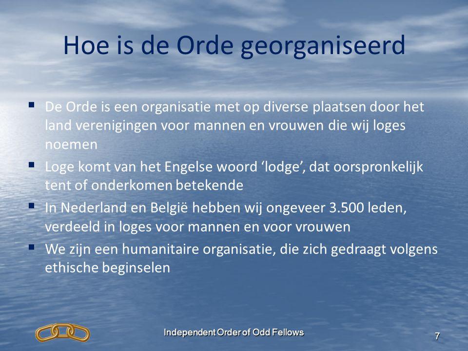 Hoe is de Orde georganiseerd