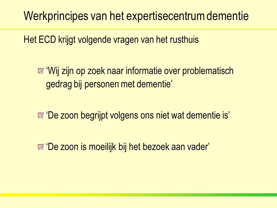 Werkprincipes van het expertisecentrum dementie