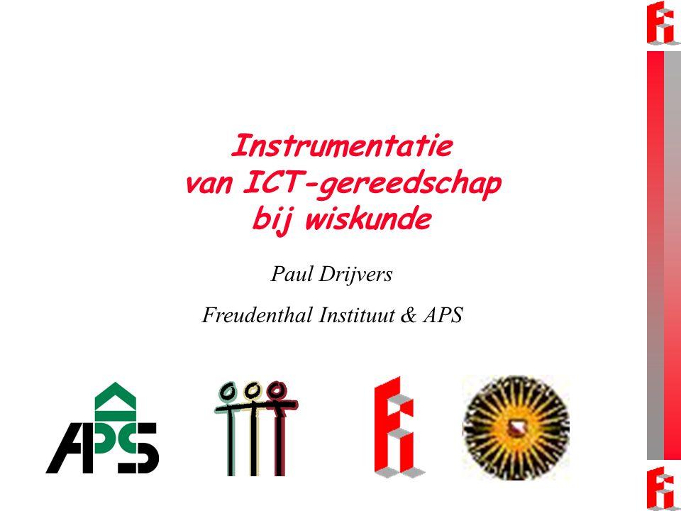Instrumentatie van ICT-gereedschap bij wiskunde