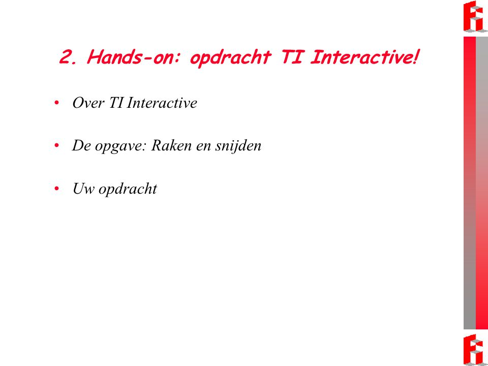 2. Hands-on: opdracht TI Interactive!