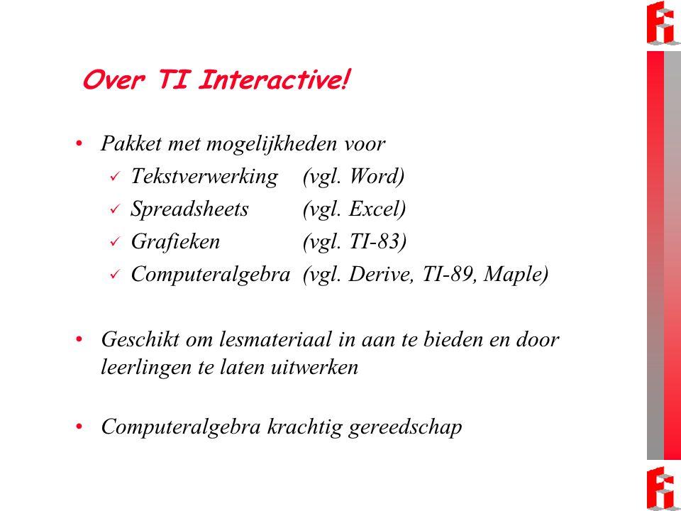 Over TI Interactive! Pakket met mogelijkheden voor