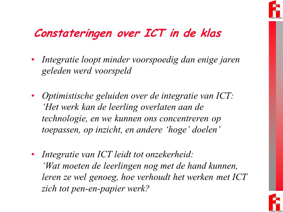 Constateringen over ICT in de klas