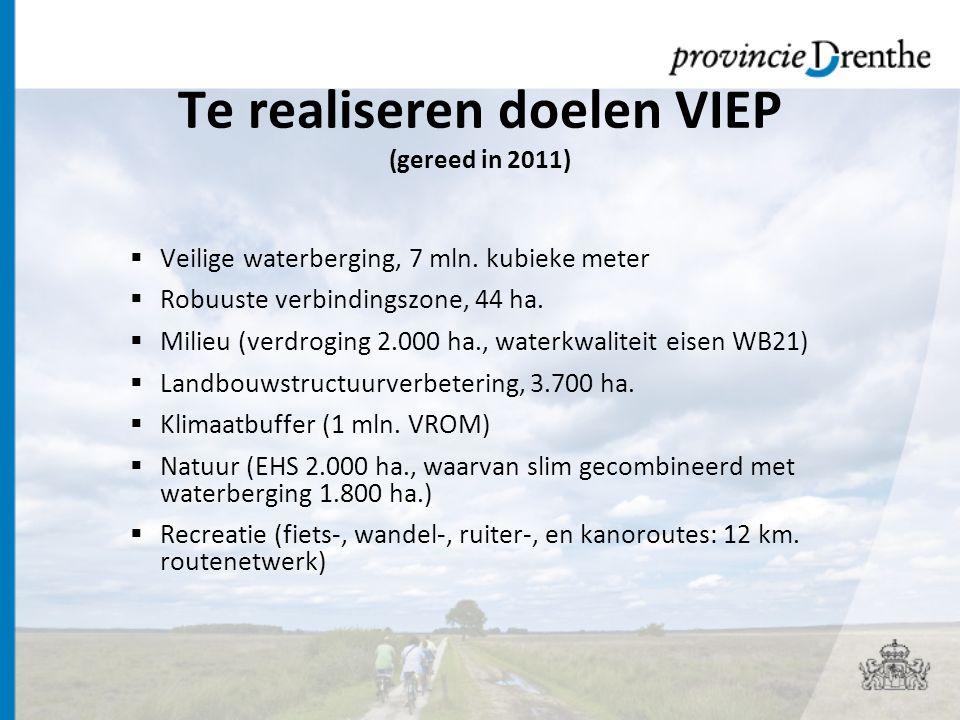 Te realiseren doelen VIEP (gereed in 2011)