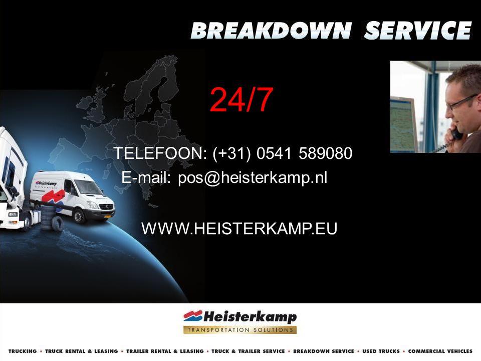 24/7 TELEFOON: (+31) 0541 589080 E-mail: pos@heisterkamp.nl