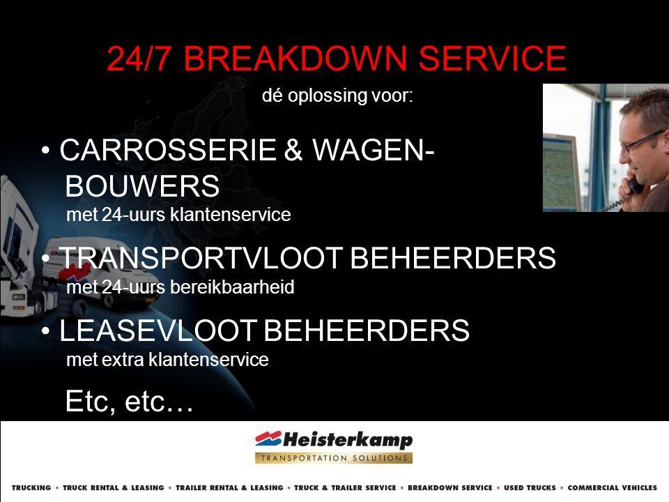 24/7 BREAKDOWN SERVICE dé oplossing voor:
