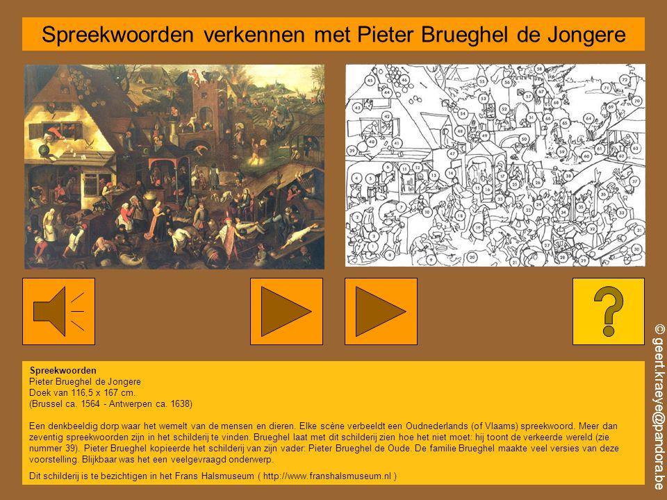 Spreekwoorden verkennen met Pieter Brueghel de Jongere