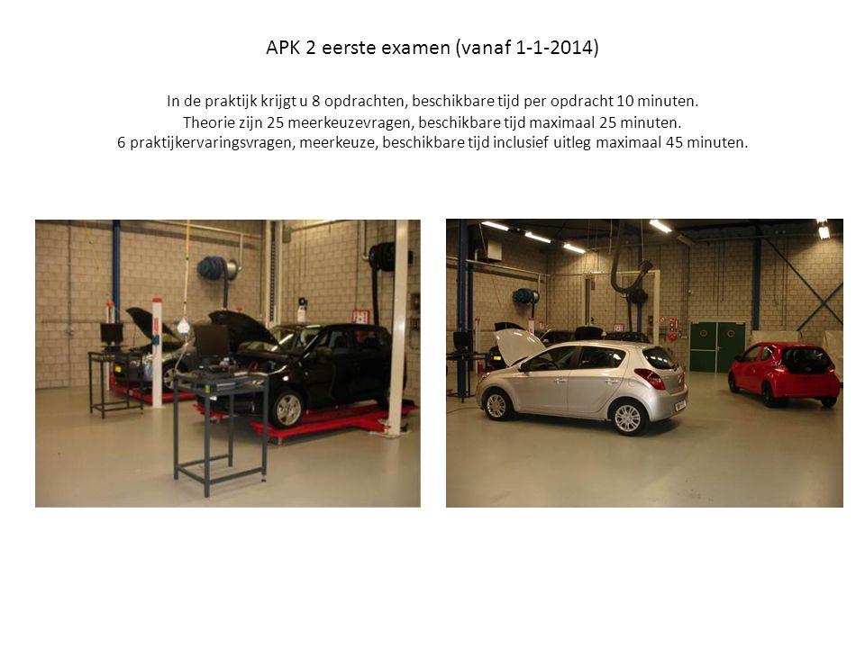 APK 2 eerste examen (vanaf 1-1-2014) In de praktijk krijgt u 8 opdrachten, beschikbare tijd per opdracht 10 minuten.