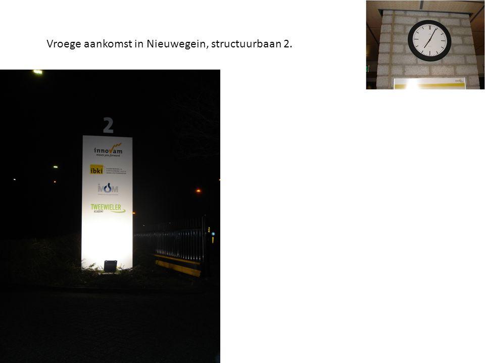 Vroege aankomst in Nieuwegein, structuurbaan 2.