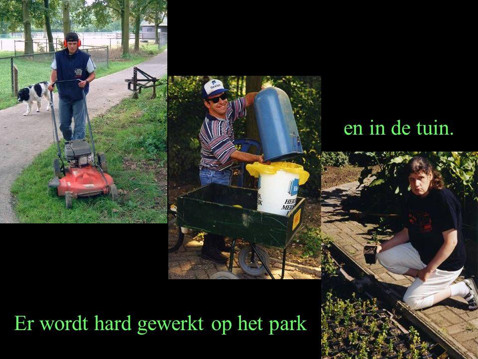 Er wordt hard gewerkt op het park