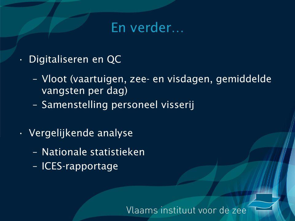 En verder… Digitaliseren en QC