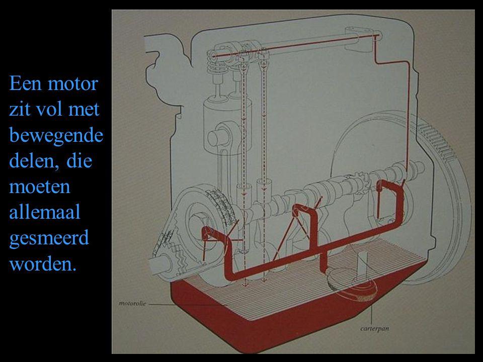 Een motor zit vol met bewegende delen, die moeten allemaal gesmeerd worden.