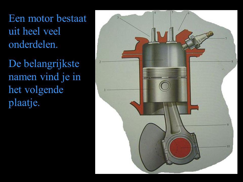 Een motor bestaat uit heel veel onderdelen.