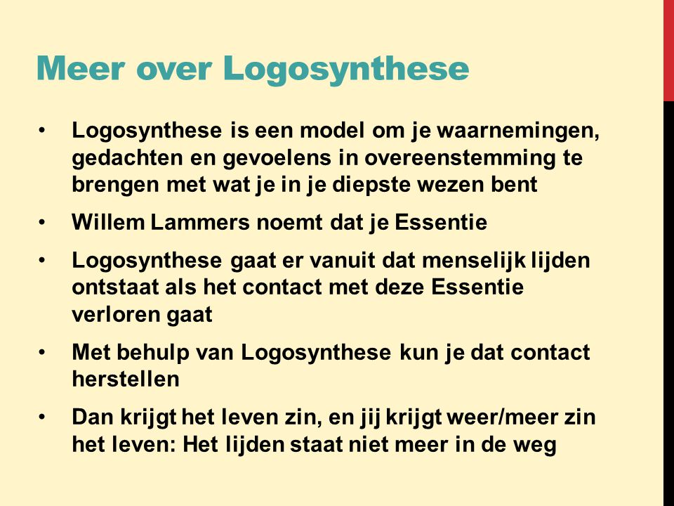 Meer over Logosynthese