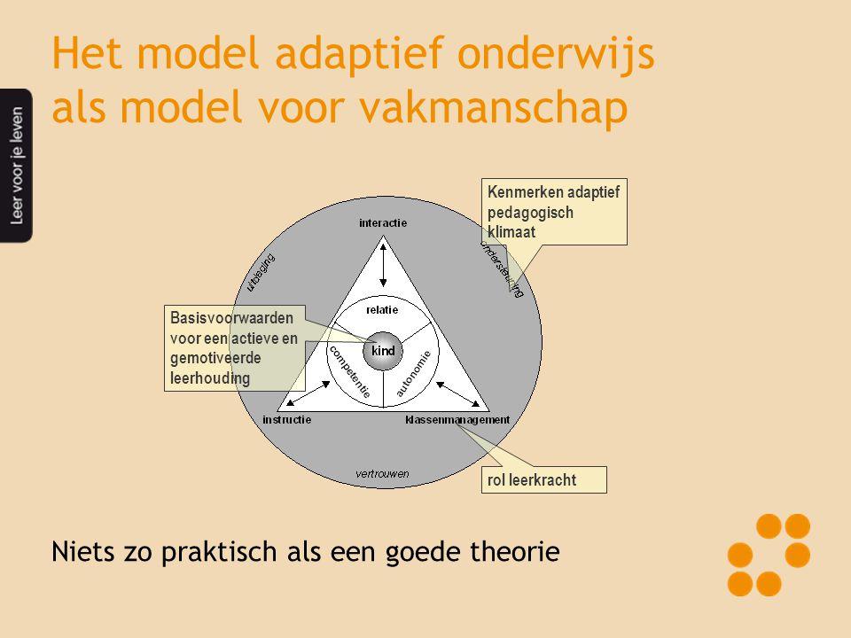 Het model adaptief onderwijs als model voor vakmanschap