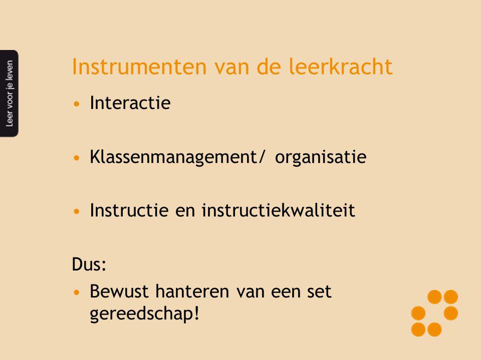 Instrumenten van de leerkracht