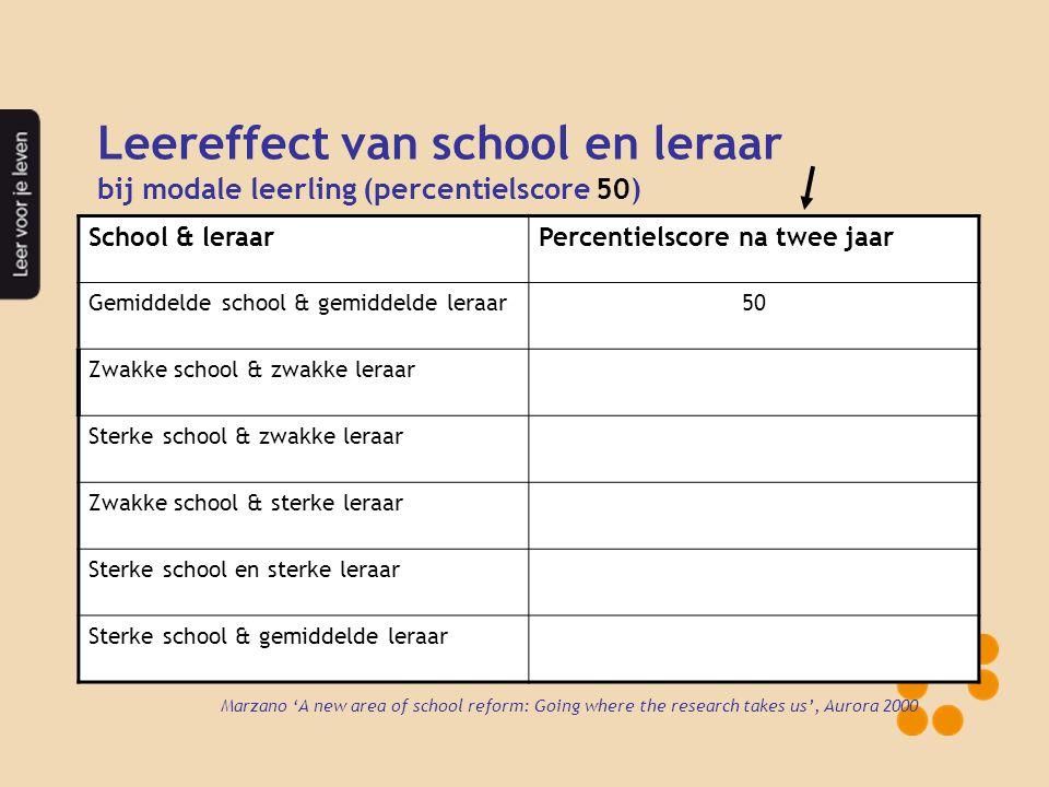 Leereffect van school en leraar
