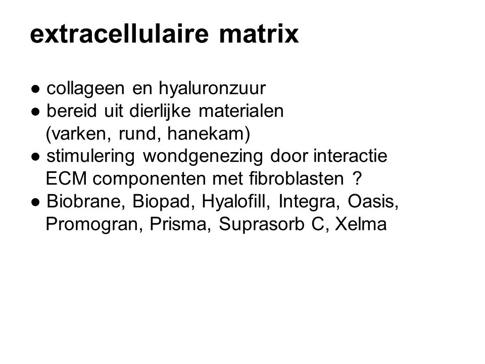 extracellulaire matrix