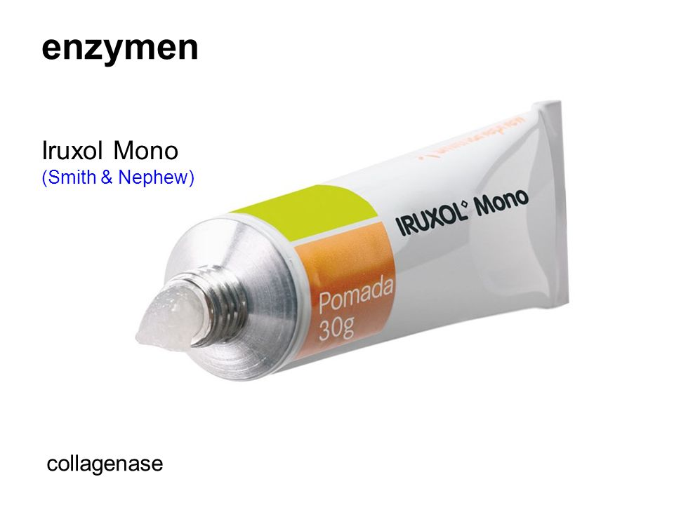 enzymen Iruxol Mono (Smith & Nephew) collagenase