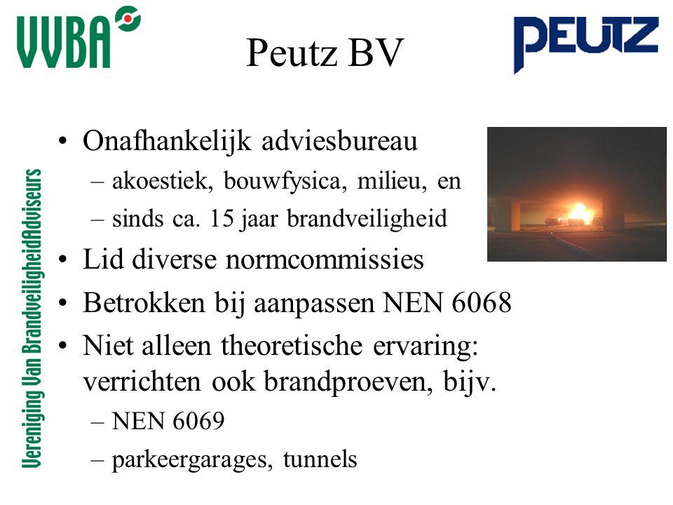 Peutz BV Onafhankelijk adviesbureau Lid diverse normcommissies