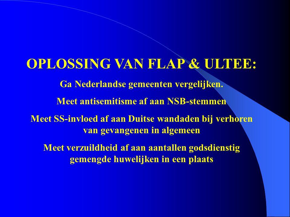 OPLOSSING VAN FLAP & ULTEE: