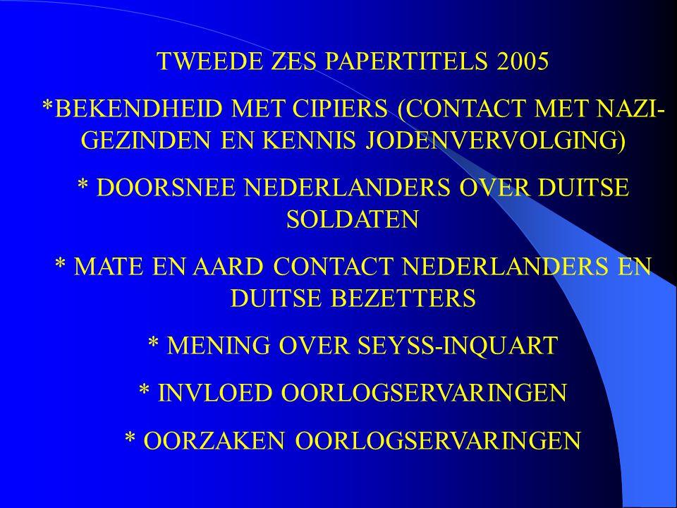 TWEEDE ZES PAPERTITELS 2005