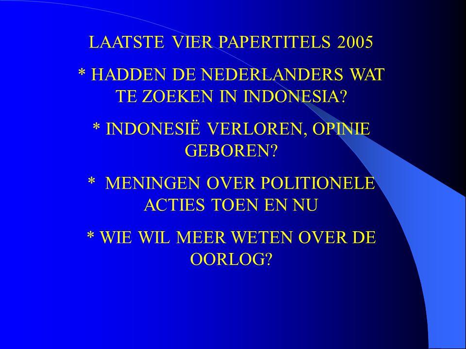 LAATSTE VIER PAPERTITELS 2005