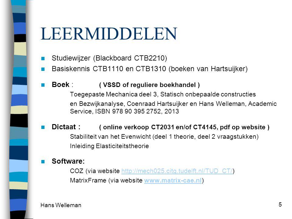 LEERMIDDELEN Studiewijzer (Blackboard CTB2210)