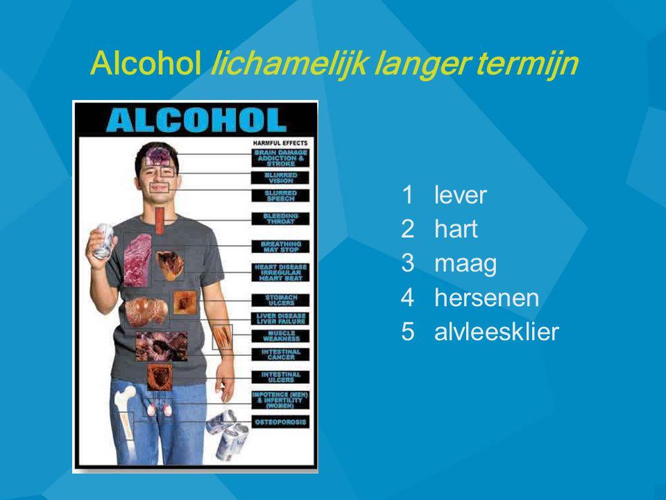 Alcohol lichamelijk langer termijn