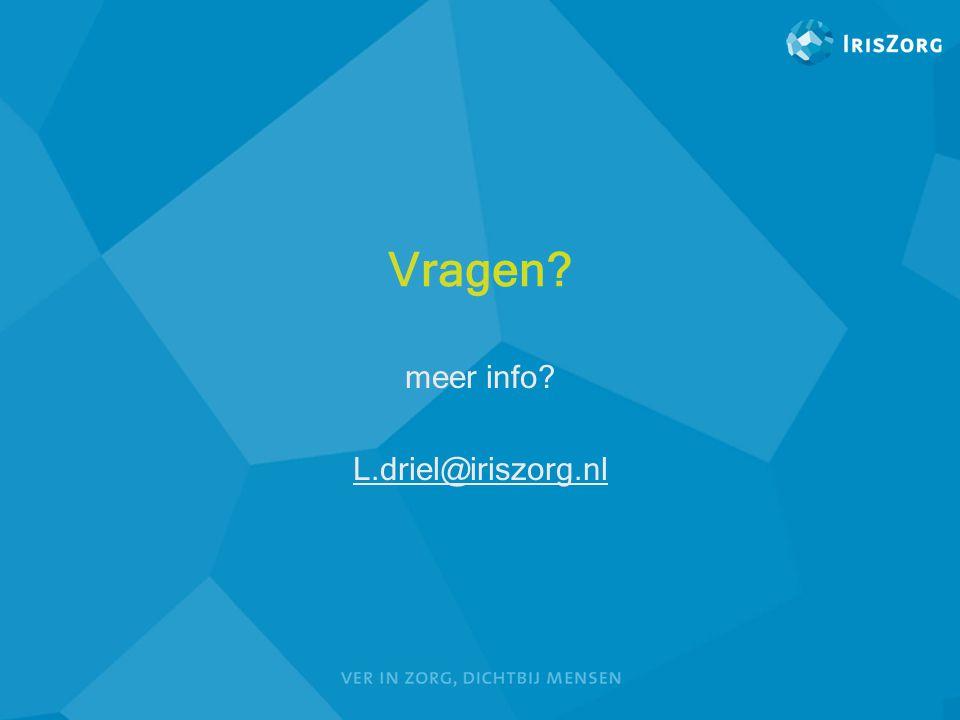 meer info L.driel@iriszorg.nl