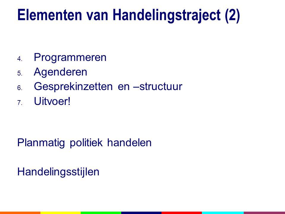 Elementen van Handelingstraject (2)