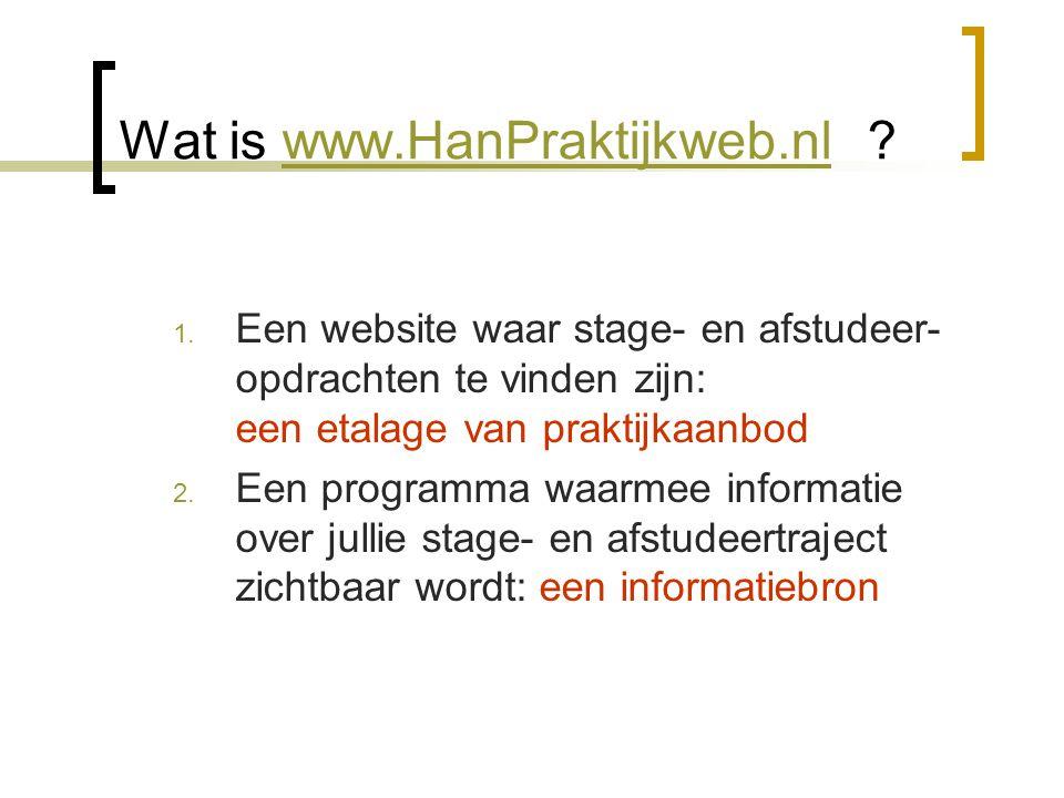 Wat is www.HanPraktijkweb.nl