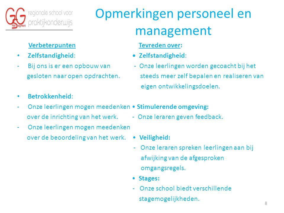 Opmerkingen personeel en management