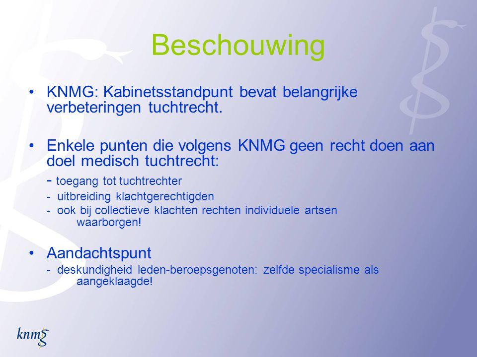 Beschouwing KNMG: Kabinetsstandpunt bevat belangrijke verbeteringen tuchtrecht.