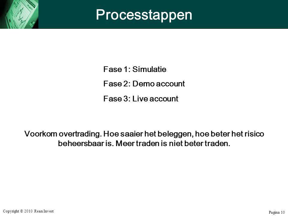 Processtappen Fase 1: Simulatie Fase 2: Demo account