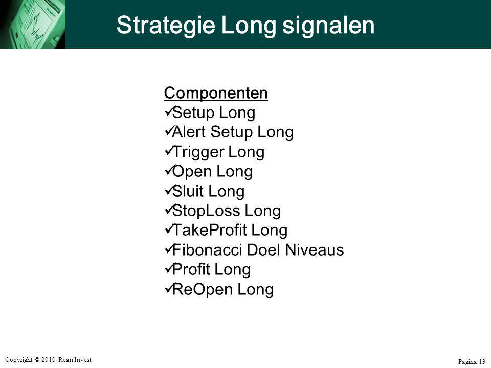 Strategie Long signalen