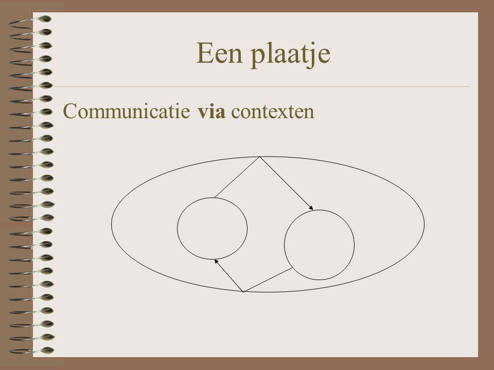Een plaatje Communicatie via contexten
