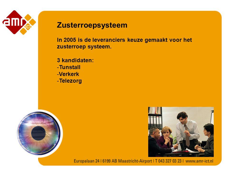 Zusterroepsysteem In 2005 is de leveranciers keuze gemaakt voor het zusterroep systeem. 3 kandidaten: