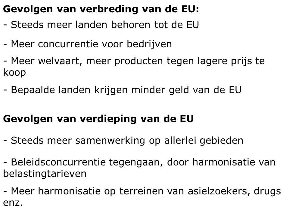Gevolgen van verbreding van de EU: