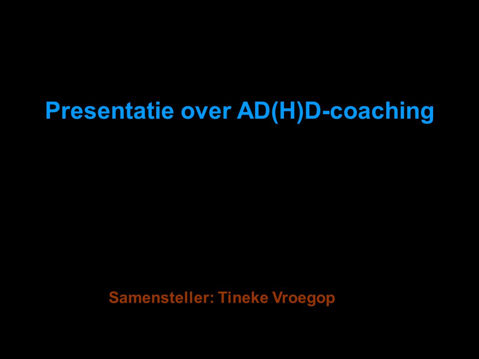 Presentatie over AD(H)D-coaching
