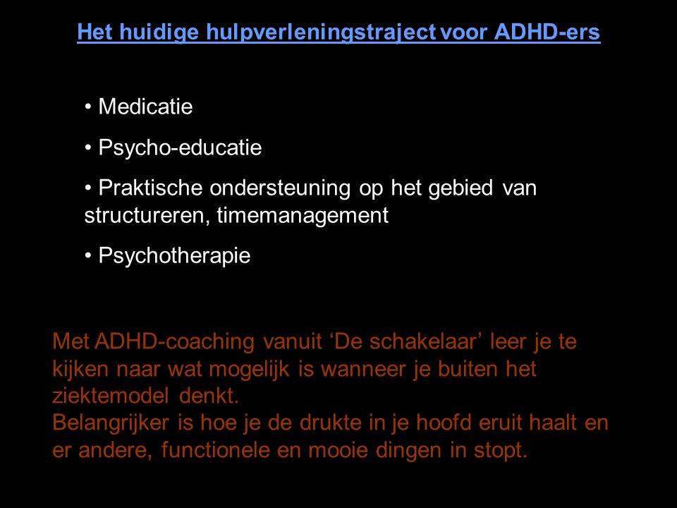 Het huidige hulpverleningstraject voor ADHD-ers