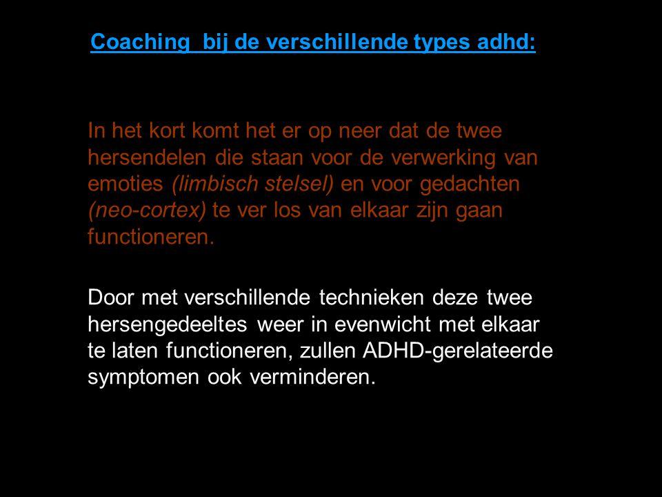 Coaching bij de verschillende types adhd: