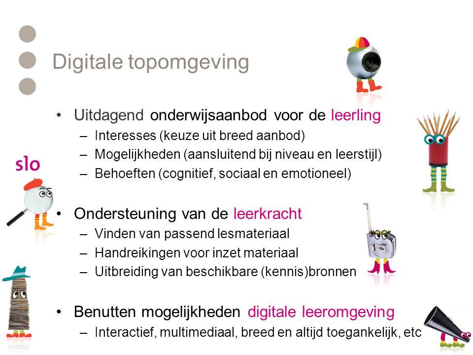 Digitale topomgeving Uitdagend onderwijsaanbod voor de leerling
