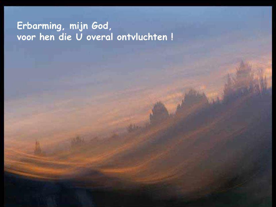 Erbarming, mijn God, voor hen die U overal ontvluchten !