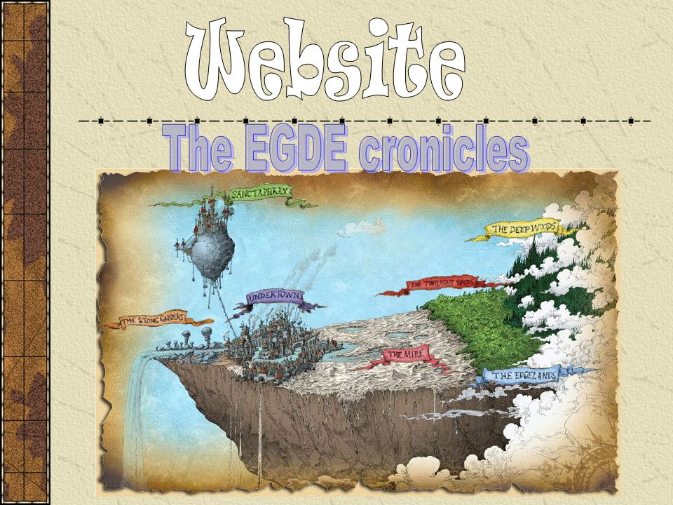Website The EGDE cronicles
