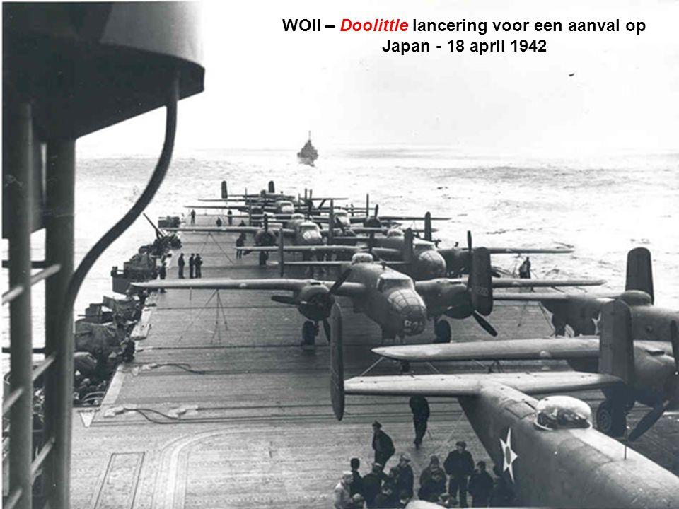WOII – Doolittle lancering voor een aanval op Japan - 18 april 1942