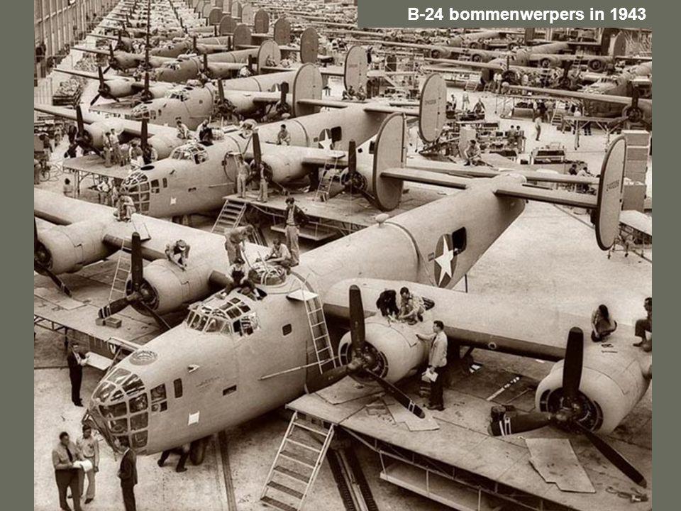 B-24 bommenwerpers in 1943