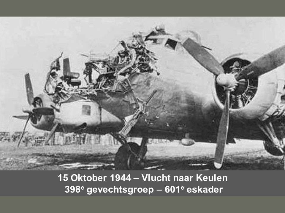 15 Oktober 1944 – Vlucht naar Keulen 398e gevechtsgroep – 601e eskader