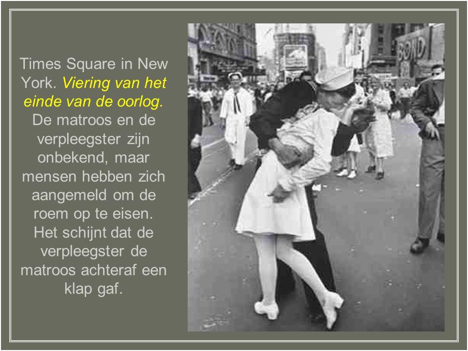 Times Square in New York. Viering van het einde van de oorlog