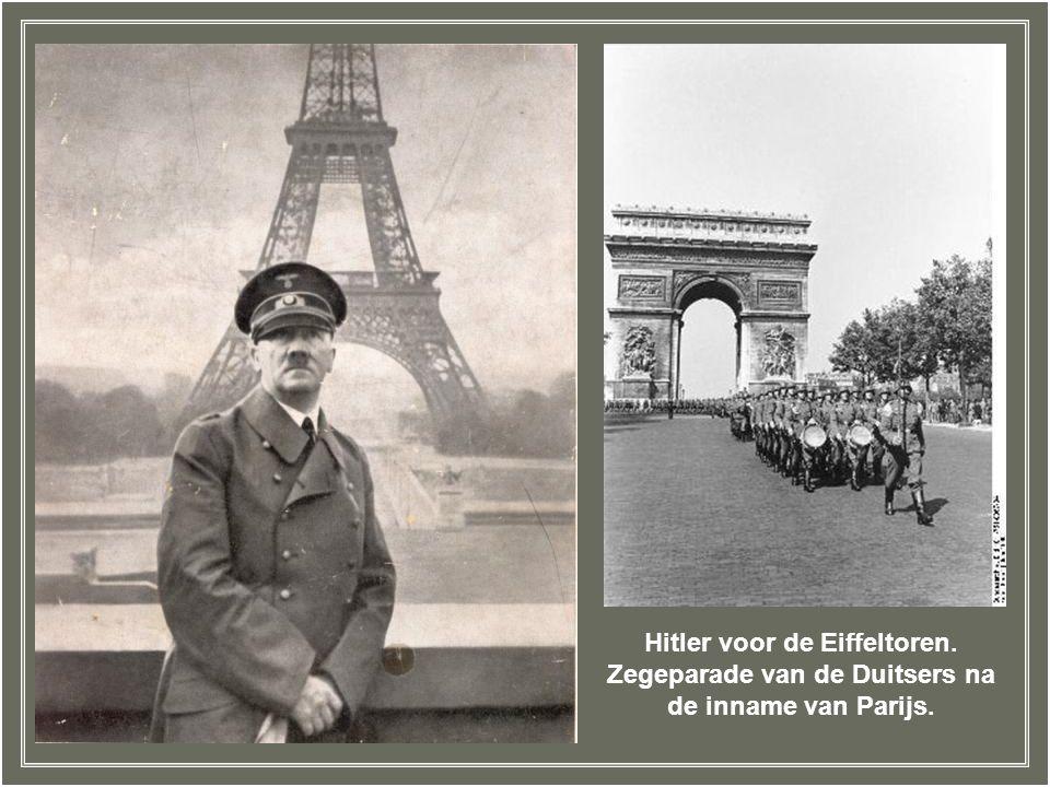 Hitler voor de Eiffeltoren.